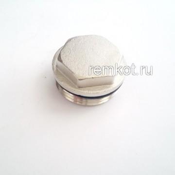 """Заглушка с уплотнительным кольцом никел.1"""" M301-4 Tim"""